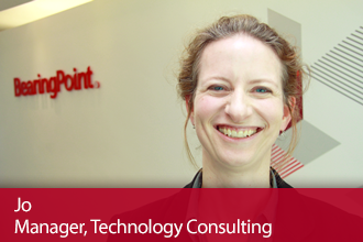 BearingPoint Experienced Hires – Meet Jo, Manager Technology Consulting