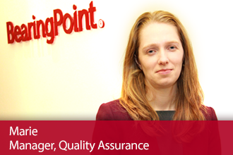 BearingPoint Experienced Hires – Meet Marie, Manager Quality Assurance